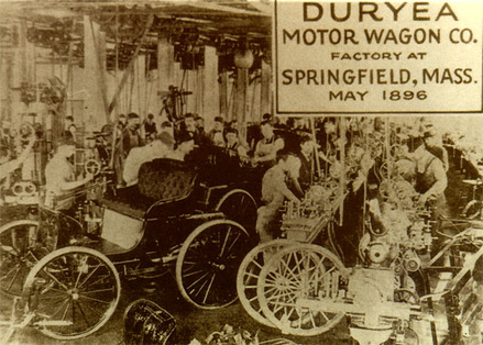 The Duryea Motor Wagon Co. Factory was opened earlier that year.